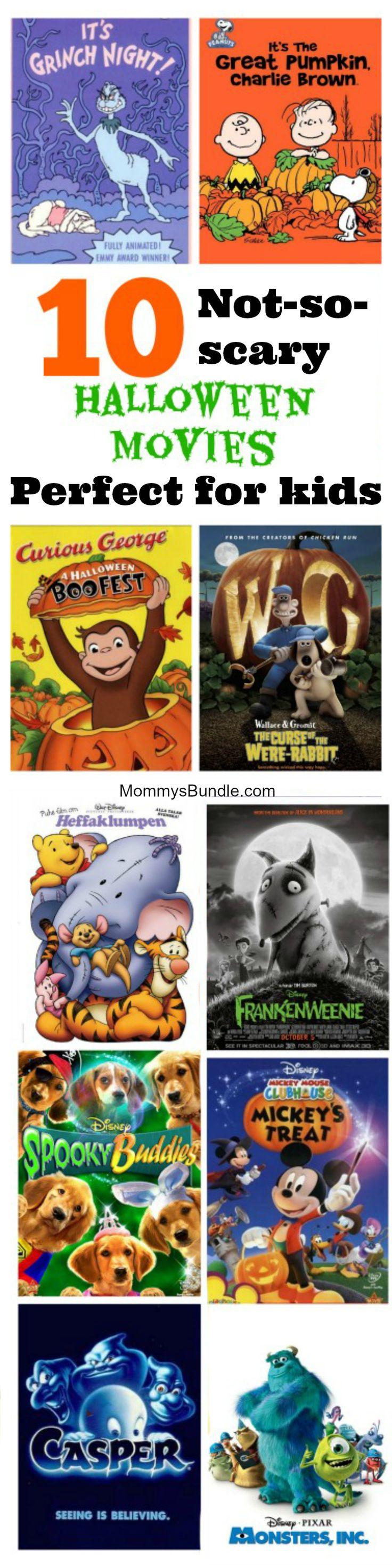 The BEST Halloween movies for little kids! Whether it's for a scary movie night or party, here's our top movie picks, toddlers and preschoolers can have fun watching!