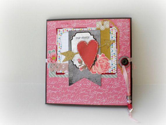 Photo album Scrapbook mini album Accordion mini by sweetpaperlife
