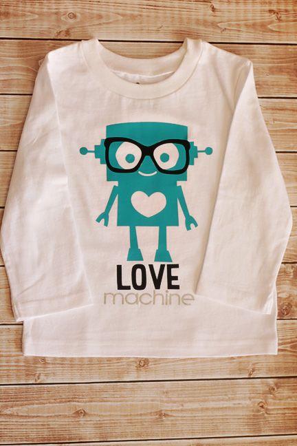 Robot Valentine tshirt by Tori Grant