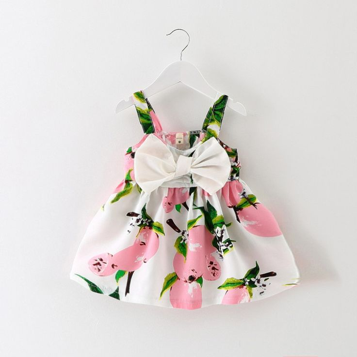 Baby Dress Infant girl dresses Lemon Print Baby Girls Clothes Slip Dress Princess Birthday Dress for Baby Girl