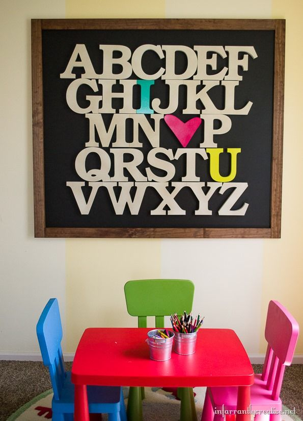 oversized alphabet sign from Infarrantly Creative! Gorgeous!