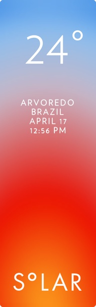 Florianópolis weather has never been cooler. Solar for iOS.