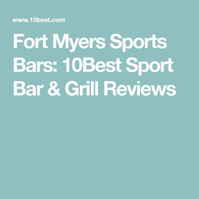 Fort Myers Sports Bars: 10Best Sport Bar & Grill Reviews