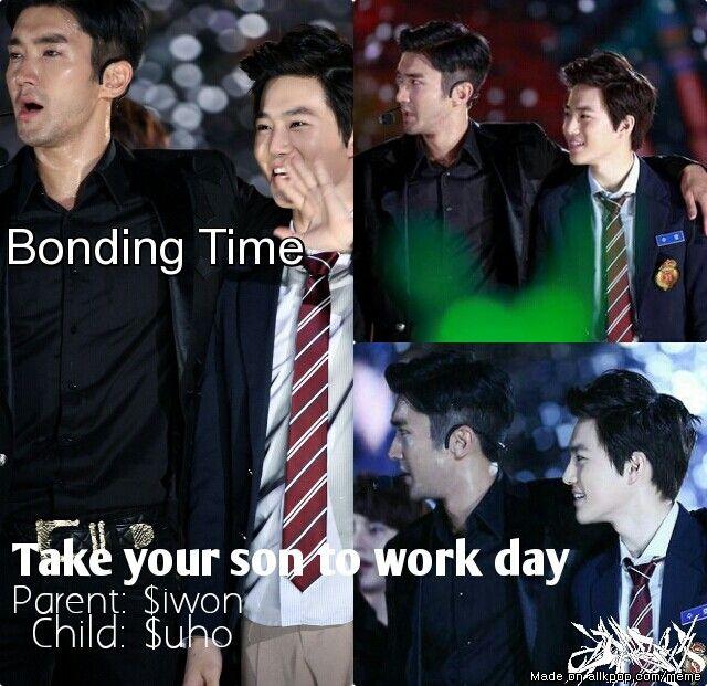 $uho & $iwon fatherly bonding | allkpop Meme Center