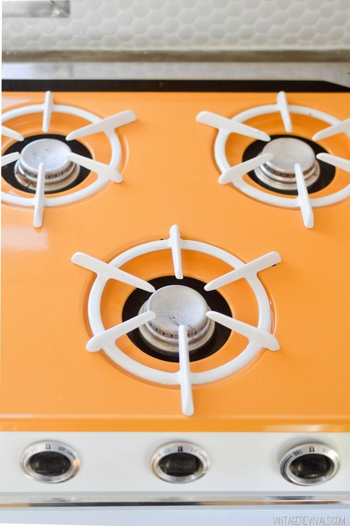 Custom Powder Coated Stovetop  i like the idea of a colored stovetop, never seen it before