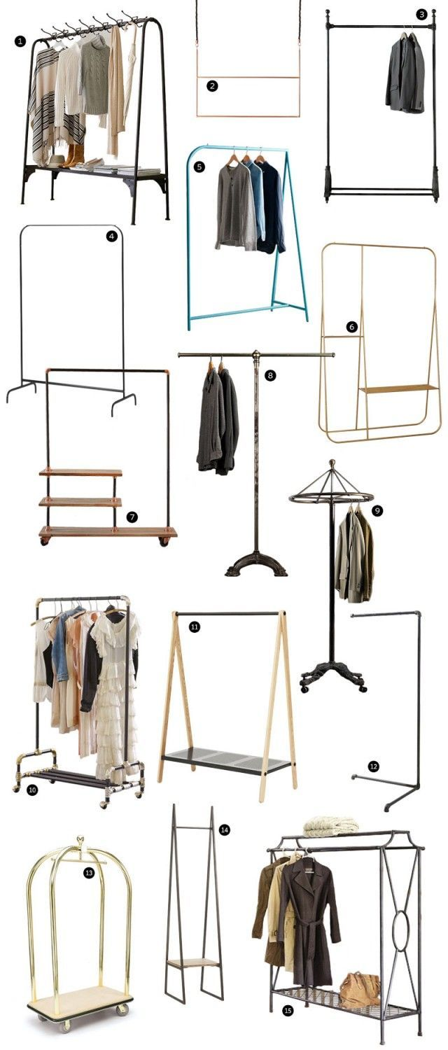 Stylish Hanging Clothes Racks For Small Rooms