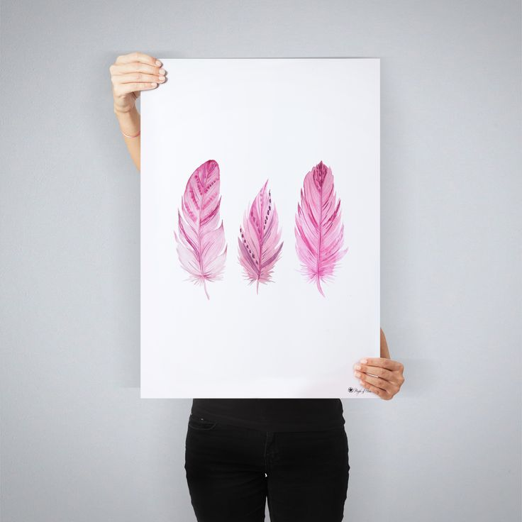 """""""Pink Feathers"""" // art print by People of tomorrow"""