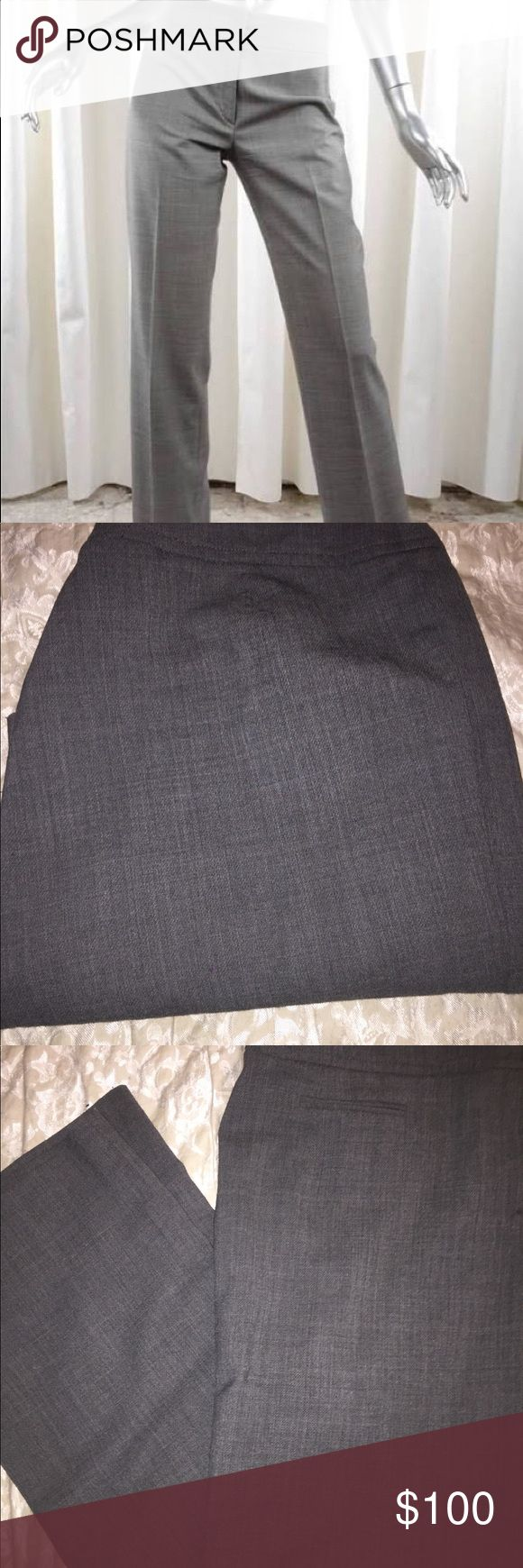 """AKRIS women classic gray straight leg trousers 98% Wolfe-wool and 2% elasthan. These pants feature a right leg faux slip pocket. Two well made snap and zipper closure. Comes with an extra button. Inseam measures 29"""" and waist measures 18"""" across. Pants measure 40"""" long. In excellent condition. No odors. Bookmark me @kujijoy. Thanks for looking! Akris Pants Trousers"""