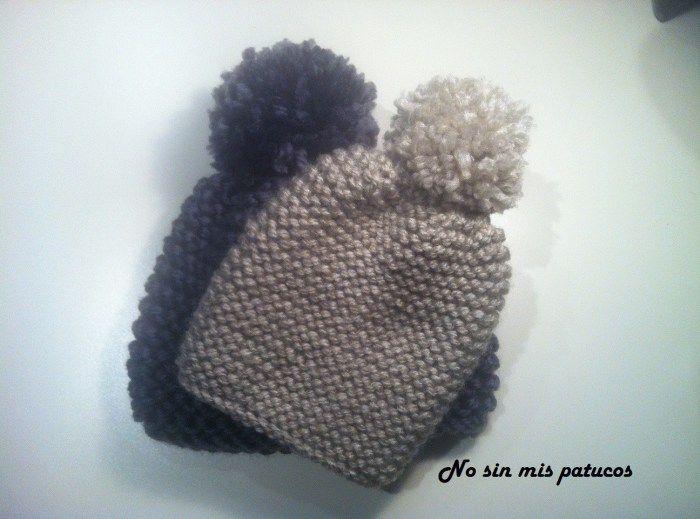 M s de 1000 ideas sobre gorros de punto en pinterest - Puntos de agujas de lana ...