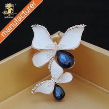 2016 новые мода двойной бабочка синий брошь кристалл падения ювелирные изделия для подарка свадьбы женщин(China (Mainland))