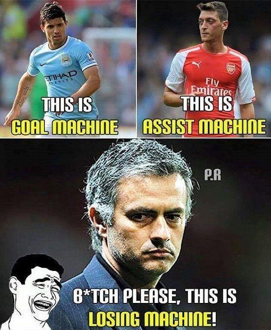 Sergio Aguero maszyną do strzelania goli • Mesut Ozil maszyną do notowania asyst • Jose Mourinho maszyną do przegrywania • Zobacz >> #mourinho #funny #football #soccer #sports #pilkanozna
