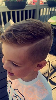 cool #boyscut #haircut #hardpart...