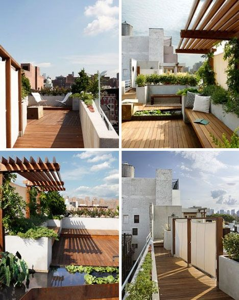 Vertical Roman shades & partial patio cover
