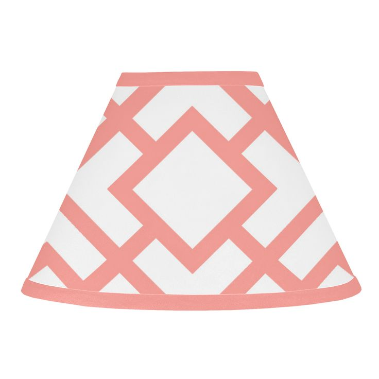 "Sweet Jojo Designs Mod Diamond 10"" Brushed Microfiber Empire Lamp Shade"
