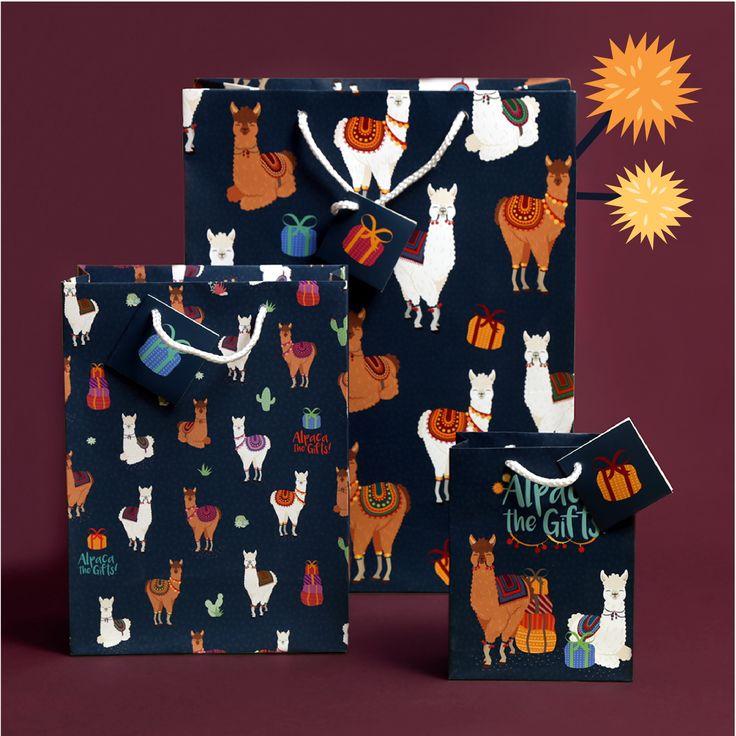 Dárkové tašky ve třech velikostech s originálním motivem Alpaka #alpaca