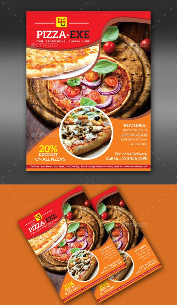 Abstract #Pizza Store Flyer  - #Flyers Print Templates Download here: https://graphicriver.net/item/-abstract-pizza-store-flyer-/8817106?ref=alena994