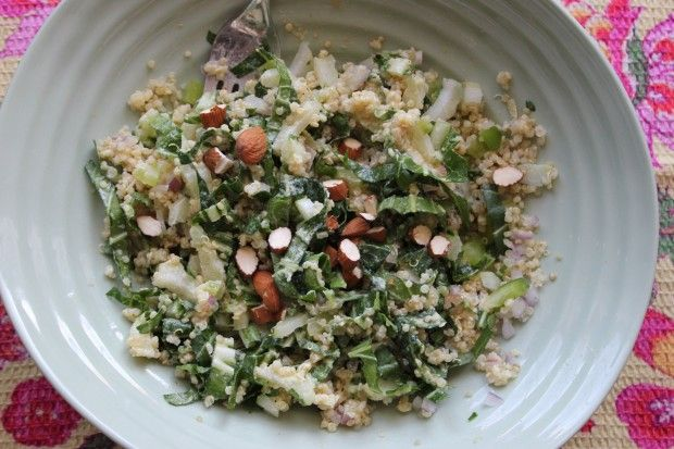 Bok Choy & Quinoa Salad with Tahini Dressing