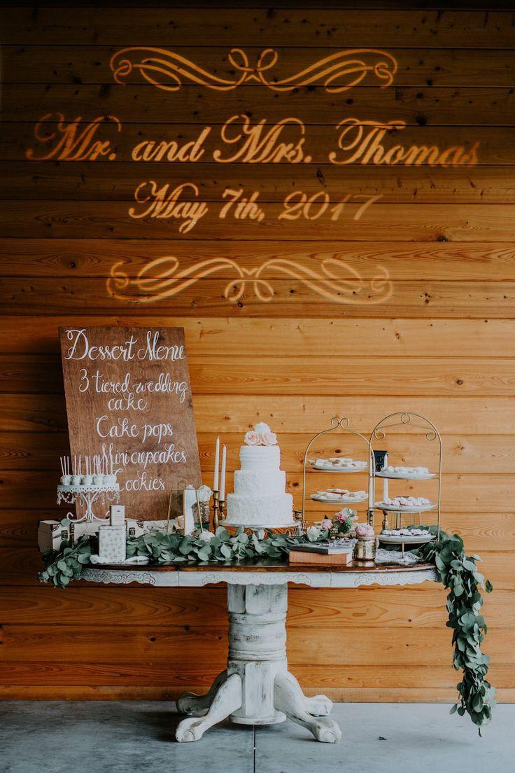 Elegant Rustic Bradenton Pink And Peach Styled Wedding Wedding Cake Table Barn Wedding Cakes Wedding Dessert Table Decor