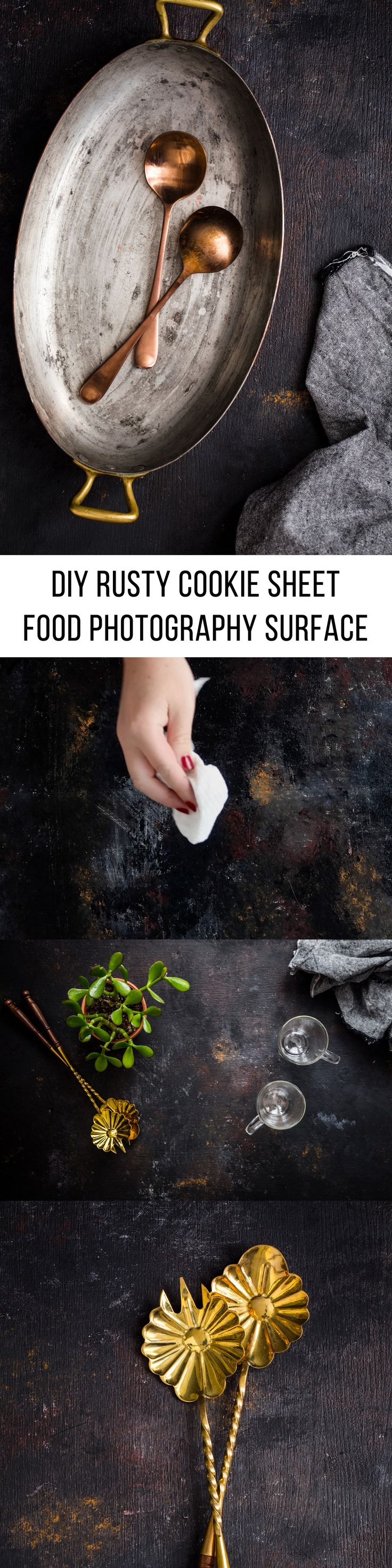 How To Video: DIY Rusty Cookie Sheet Surface for Moody Food Photography