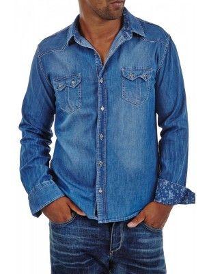 Camisa Denim Carisma   Azul medio