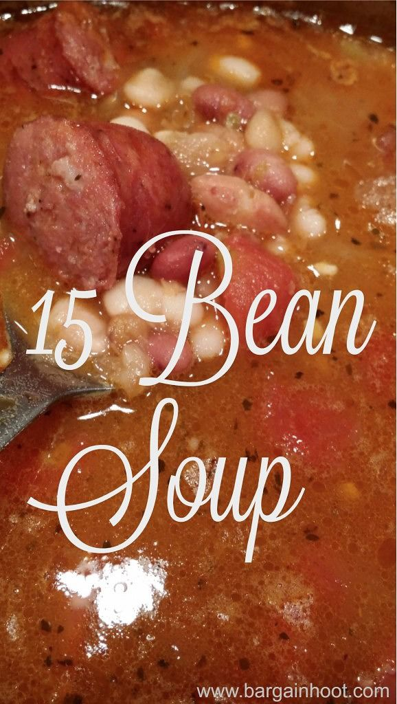 Yummy 15 Bean Soup - fun for fall!!!