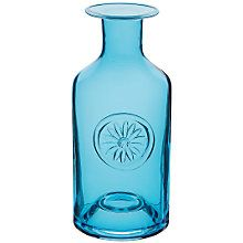 Buy Dartington Crystal Flower Bottle Vase, Blue Daisy Online at johnlewis.com