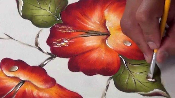 Flor de Cucarda Pintada en Tela (2/2)