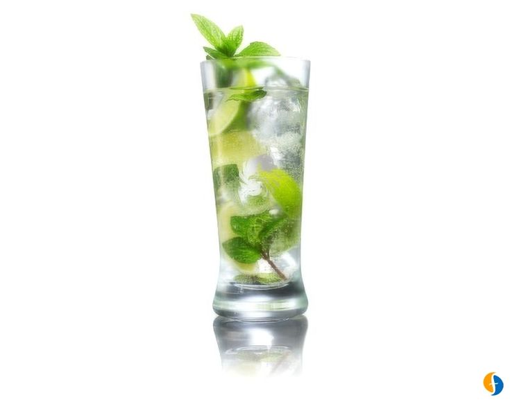 6 Healthiest Alcoholic Mixed Drinks  -          1. Champagne     2. Martini     3. Vodka and Soda     4. Gin and Tonic     5. Fizzy Lemonade     6. Mojito       Recipes and calorie explanations at website.     http://www.fitday.com/fitness-articles/nutrition/healthy-eating/6-of-the-healthiest-alcoholic-mixed-drinks.html