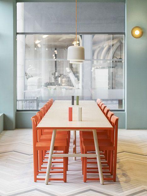 Note Design Studio uses desert colours in Stockholm bistro