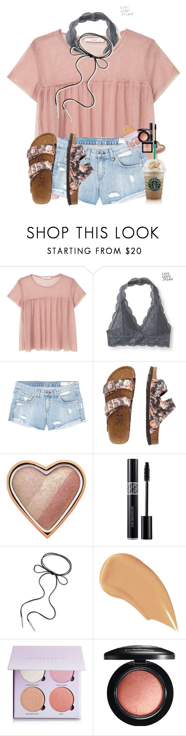 """""""Trying something new"""" by amaya-leigh ❤ liked on Polyvore featuring MANGO, Aéropostale, rag & bone/JEAN, TravelSmith, Too Faced Cosmetics, Christian Dior, Kendra Scott, NARS Cosmetics, Anastasia Beverly Hills and MAC Cosmetics"""