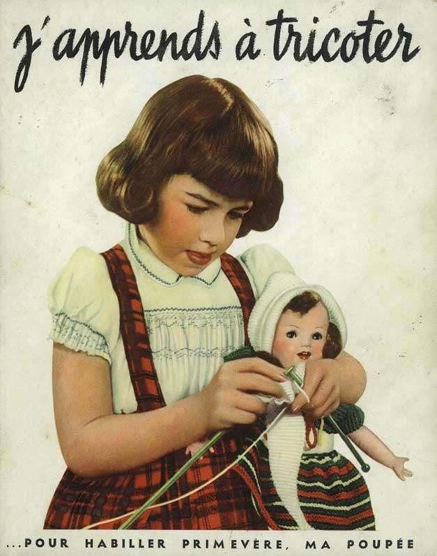 PAR AMOUR DES POUPEES :: Modèles au tricot pour Primevère, 1947 - http://www.paramourdespoupees.com/t15360-Modeles-au-tricot-pour-Primevere-1947.htm