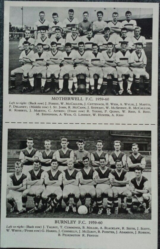 Lion Comic Nov 14th 1959 with Football Team Photo Cards of Motherwell FC (1959 - 1960) and Burnley FC (1959 - 1960)