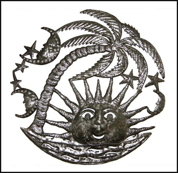 24 best Haitian Metal Sun & Moon Decorative Wall Art images on ...