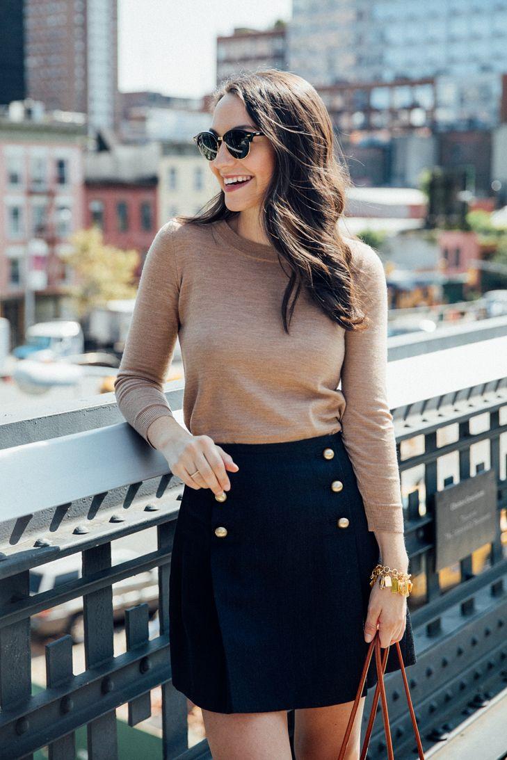 Gold Buttons Skirt