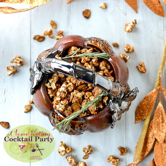 Rosemary Caramel Almond Popcorn #TDAYROUNDUP Entry via @Kayla NelsonDesserts, Appetizers Snacks, Awe Sweets, Rosemary Popcorn Recipe, Food Popcorn, Rosemary Caramel, Almond Popcorn I, Cleaning Eating, Caramel Almond