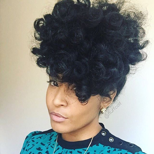 74 best naturally curly updos images on pinterest hairstyle pineapple pouf fluffcoif pmusecretfo Images