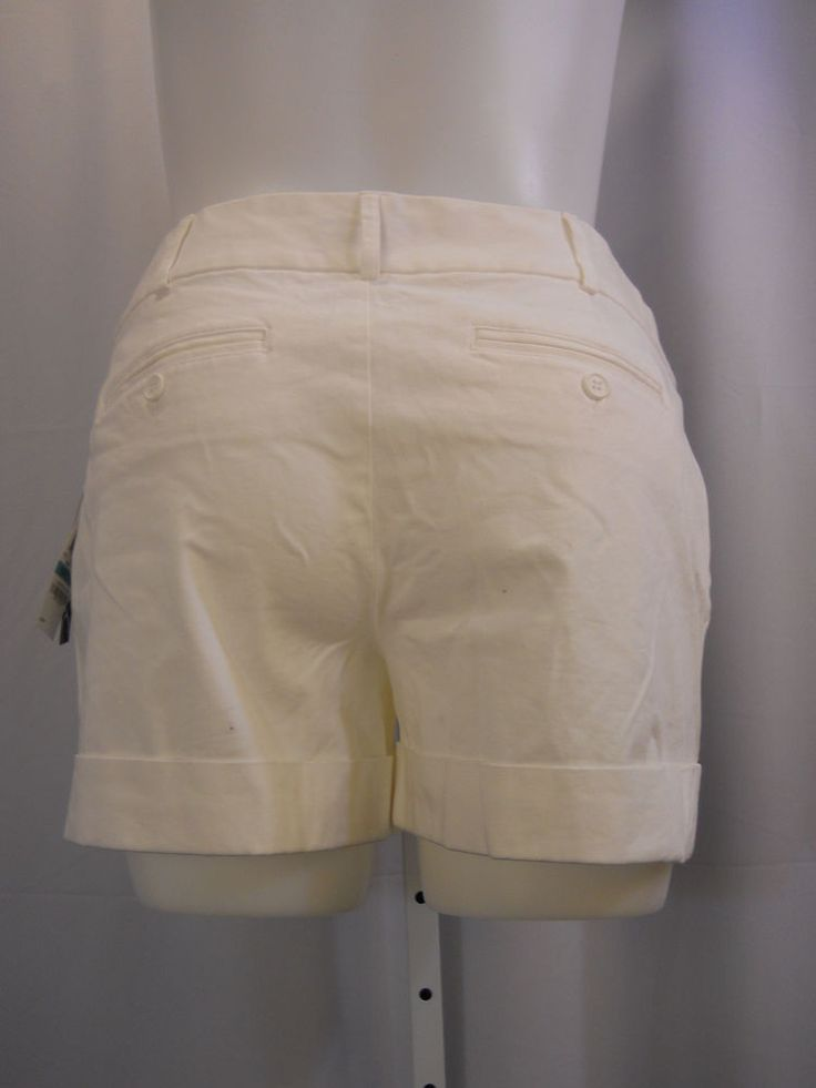 Women's Shorts Size Petites 16P INC White Cuffed Regular Sleek Tailored Fit #INCInternationalConcepts #MiniShortShorts