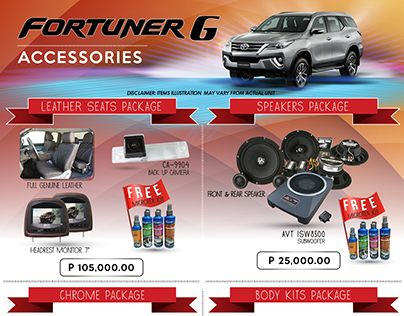 "Check out new work on my @Behance portfolio: ""Fortuner G accessories"" http://be.net/gallery/44349493/Fortuner-G-accessories"
