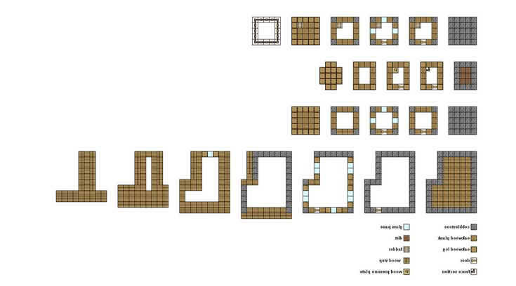 Simple minecraft floor plans google search minecraft for Simple village house design picture