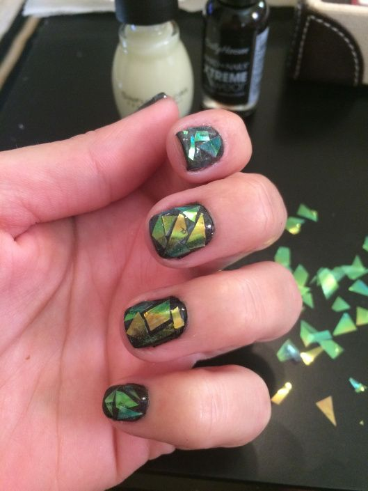 Shattered Glass Nail Tutorial | Haute Makeup Artistry