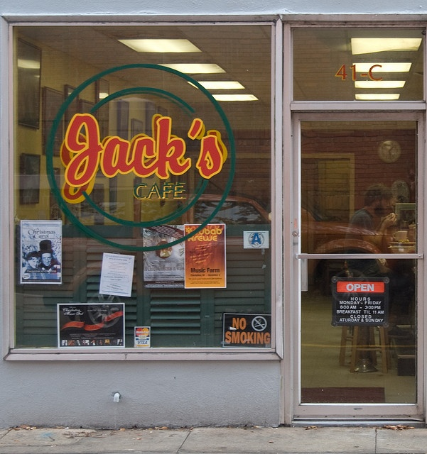 Jack's was once called The Hungry Lion. The only thing that changed was the name. Astonishing cobbler, real handmade hamburgers and milkshakes, and what breakfast was designed by God to be.  Charleston, SC