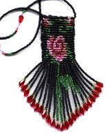 Little Rose Amulet Bag Beading Pattern and Kit. (Click on photo to go to this on our site). $16.95