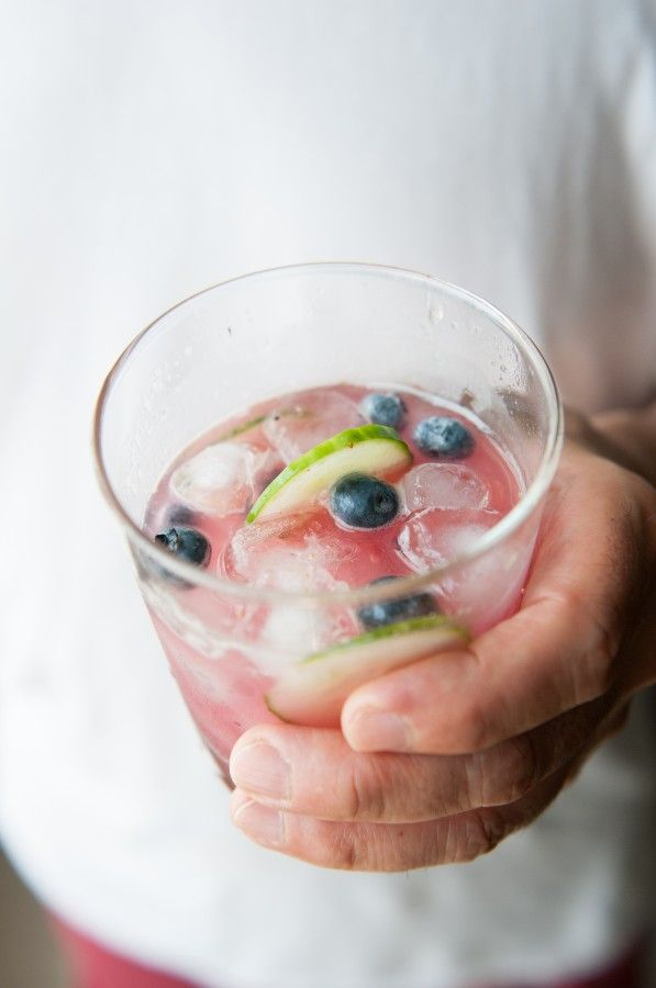blueberry cucumber gimlet