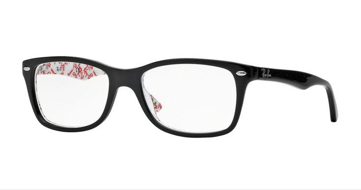 Ray-Ban Eyeglasses ORX5228 5014 Black and Texture White
