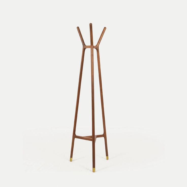 吾舍 |实木衣帽架 落地式 胡桃木衣架 创意 现代 卧室-淘宝网