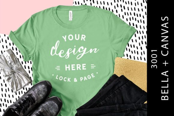 Download Leaf Bella Canvas 3001 Funky Tee Mockup Graphic By Lockandpage Creative Fabrica Shirt Mockup Design Mockup Free Tshirt Mockup