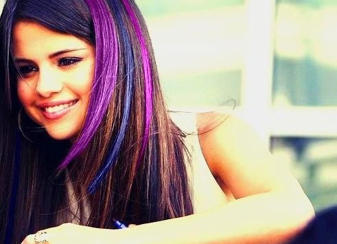 Black Hair with Purple Highlights | purple and blue highlights Hair ...