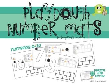 Playdough Number Mats {Free}