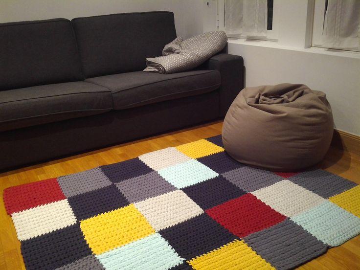 alfombra cuadros trapillo