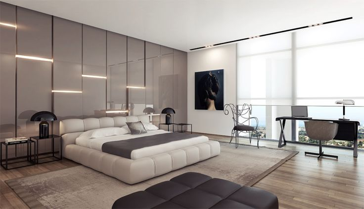 Sometimes in smaller bedrooms, hiding furniture in this way is done to help make the space feel bigger. Checkout 25 best modern bedroom designs for your inspiration